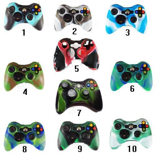 -10pc-Free-shipping-10-colors-Dual-color-font-b-Camouflage-b-font-Silicone-Skin-handle