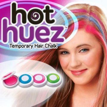 Hot Huez 4 colours DIY hair chalks 0313763029285208b75010886 گچ موی hot huez