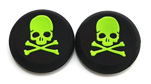 vivi-audio-thumb-stick-grips-cap-cover-joystick-thumbsticks-caps-for-ps4-xbox-one-xbox-360-ps3-ps2-green-skull-0