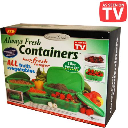 large always2012005 ظروف آلویز فرش always fresh containers , ظروف نگهدارنده غذا با تکنولوژی نانو
